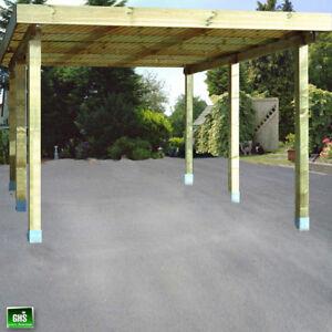 Carport 4x5 m, Holz-Bausatz 11/11 cm Stützen, Schneelast bis 200 Kg ...