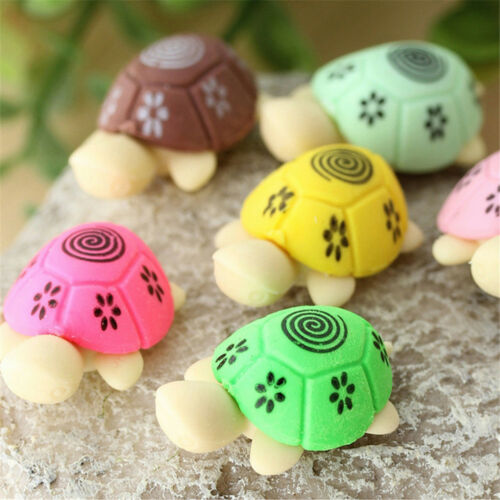 8pcs Cute Colorful Turtles Design Erasers Mini Cartoon Rubber Kawaii  Kids Gifts