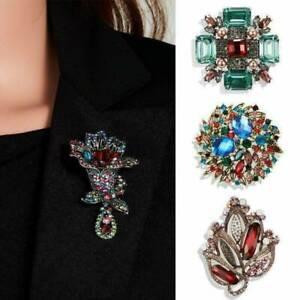 Retro-Crystal-Rhinestone-Pearl-Flower-Wedding-Bridal-Bouquet-Brooch-Pin-Jewelry