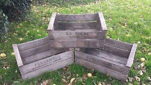 GRADED-Vintage-Wooden-Pear-Fruit-Crates-Rustic-Old-Bushel-Box-storage