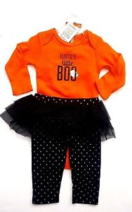 NWT-Carter-039-s-Baby-Aunties-Little-BOO-Halloween-Outfit-Bodysuit-Tutu-Pant-Costume
