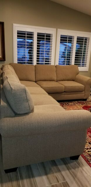 Ashley Furniture Chamberly 5 Piece Sectional Sofa In Alloy For