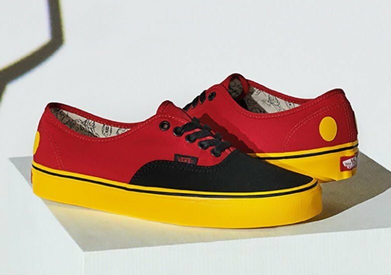 NIB Authentic Vans Limited Disney 90thAnniversary Authentic NIB Mickey /Red/Yellow VN0A38EMUK9 69b301