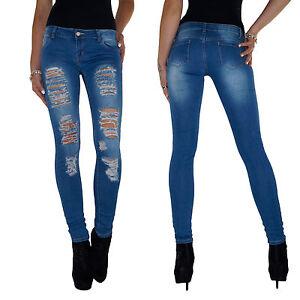 Das Bild wird geladen Damen-Stretch-Hueft-Jeans-Hose -Roehrenjeans-Skinny-Roehre- 5c45ae1df4