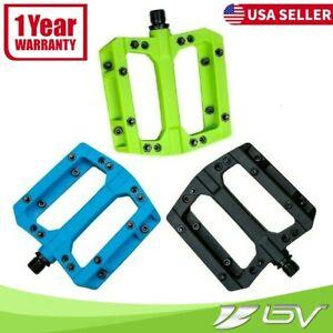 "VP Mountain Bike Pedals Nylon Fiber Composite 9/16"" Non-Slip MTB Road Bicycles"