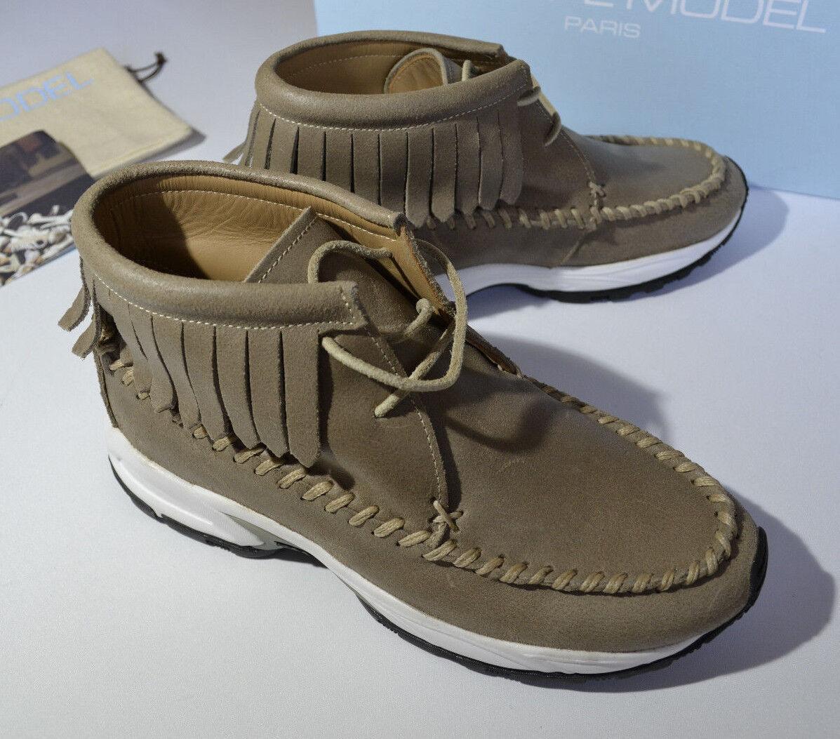 Zapatos tótem De Cuero Phillipe Modelo Mujer botas tótem Zapatos más alta mujer UK 3-UE 36 5cc8e4
