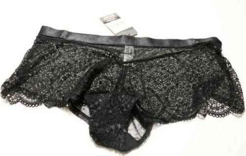 NEW KAYSER BLACK LACE BOYLEG SHORT BIKINI BRIEF PANT SIZE 12