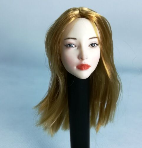 1/6 Weibliches Blondes Haar Pale Head Sculpt Für Phicen Action Figure Modell