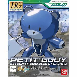 Bandai-Hgpg-1-144-Petit-039-Gguysuna-F-Seiei-Azul-amp-Dobles-Franja-Kit-de-Modelismo