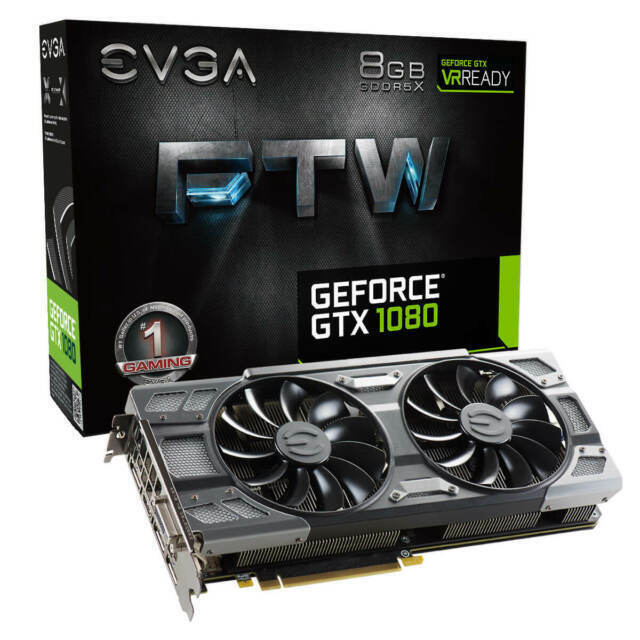 evga nvidia 08g p4 6286 kr geforce gtx 1080 ftw 8gb gddr5x graphics card for sale online ebay evga nvidia 08g p4 6286 kr geforce gtx 1080 ftw 8gb gddr5x graphics card