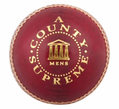 Readers County Supreme /'A/' Mens Leather Red Cricket Ball Size 5.5oz