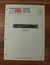HIFI5140 HSA7000 ITT Graetz Service Kundendienst Service Manual