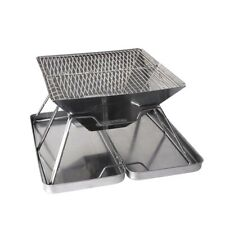 Charcoal BBQ Grill Foldable Barbecue Portable Outdoor Steel Roast Camping Picnic
