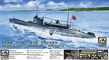 AFV Club 1/350 Japanese Navy Submarine i-27 W/A-Target Plastic Model Kit SE73514