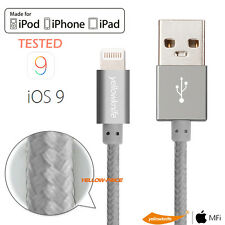 Aluminum 8Pin USB Data Sync OEM Authentic Cable Cord for iPhone 5S 6S 6/7 Plus