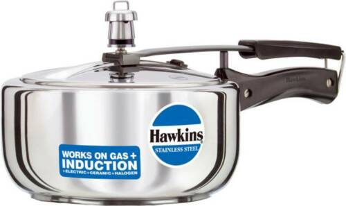 Hawkins Stainless Steel Pressure Cooker 2 Ltr With Free Cooker Spare Parts