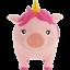 LiLaLu-Sparschwein-Einhorn-rosa-16-5-x-13-5-x-9-5-cm-B-x-H-x-T-Spardose-NEU