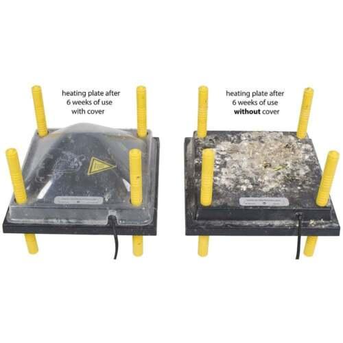 Schutzabdeckung für Küken-Wärmeplatte Comfort 30x30cm Abdeckung Schutzhaube