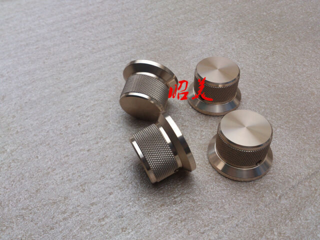 1PCS  D44*H25  Knurled full Aluminum Volume knob amplifier knob  gold color-sn