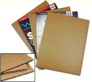 8 1//2 x 11 corrugated cardbord Pads 200