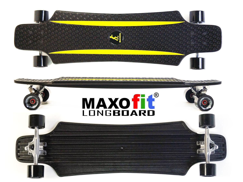 MAXOfit® Kunststoff Longboard (gelb) XP 5.0, 92 cm    Authentisch