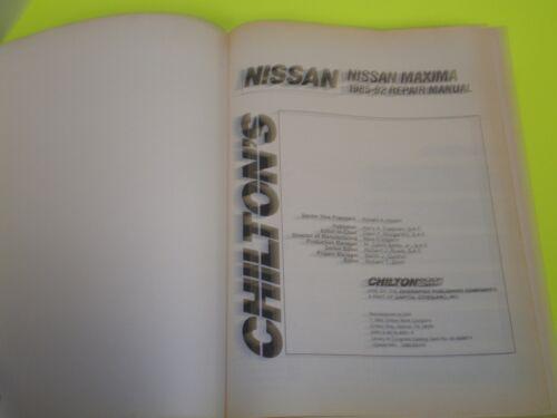 1985-1992 Nissan Maxima Chilton Repair Service Shop Workshop Manual