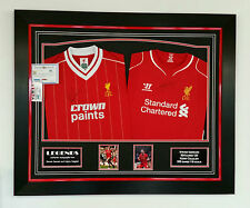 *** Rare STEVEN GERRARD and KENNY DALGLISH of Liverpool Signed Shirt Display **