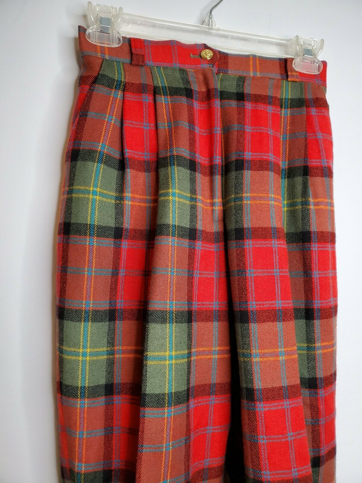 Vintage Joe Phillips Red And Green  Plaid Wool Pa… - image 3