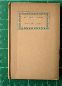 Details about Satirical Poems by Siegfried Sassoon 1926 Hardcover Viking  Press Vintage Poetry