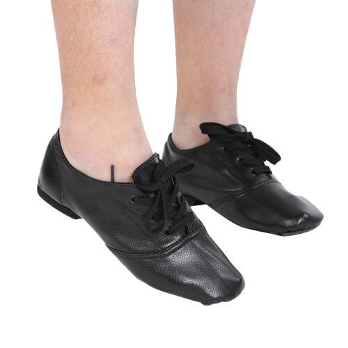 Men Women Child Jazz Dance Shoes Leather Split Sole Exercise Practice Shoes BT