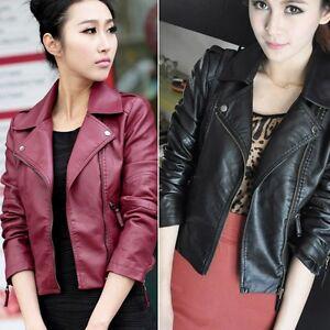 AU-Women-Slim-Biker-Motorcycle-Synthetic-Leather-Zipper-Jacket-Coat-Punk-Outwear