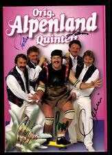 Alpenland Quintett Autogrammkarte Original Signiert ## BC 43926