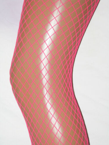With Elastane Fancy Dress Hen Do RRP £5 Bright Pink Fishnet Ladies Tights
