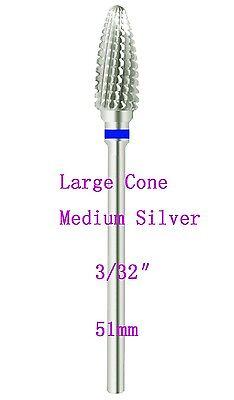 Large cone-like (Medium) carbide nail drill bit electric nail file-shiyudie