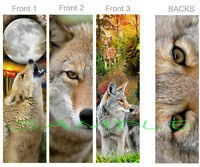 3 Set-coyote Bookmark Art Howling Wildlife Fawn Deer Animal Wolf Book Mark Card
