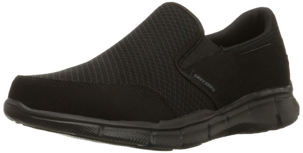 Skechers Sport Men's Equalizer Persistent Slip-On Sneaker, Black, 12 M US