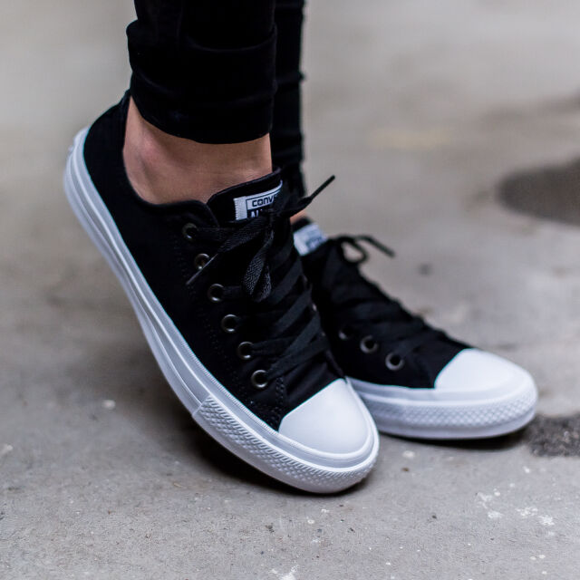 CONVERSE CHUCK TAYLOR ALL STAR II OX SHOE SHOES BLACK 150149C (IN STORE 85E) 1429c231c