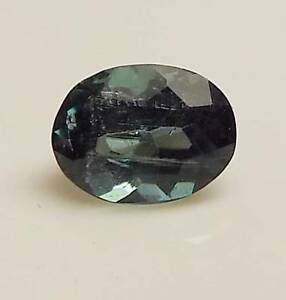 .90 CT OVAL SHAPED LOOSE FACETED NATURAL BLUE GREEN TOURMALINE (IND5-1)