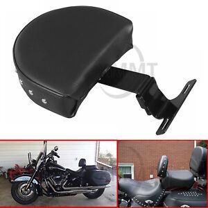 Motorcycle Adjustable Driver Rider Backrest Set For Harley Fatboy Softail FLSTC