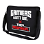 GAMERS-DON-039-T-DIE-THEY-RESPAWN-Gamer-Admin-Spruch-Fun-Umhaengetasche-Messenger-Bag Indexbild 1
