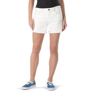 Details zu Vans Boyfriend Damen Abgeschnitten 5 Pocket Style Jeans Shorts 5 Natürlich Neu