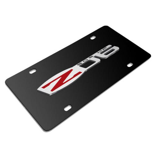 3D Logo Black Stainless Steel License Plate Chevrolet Corvette C6 Z06 05-13