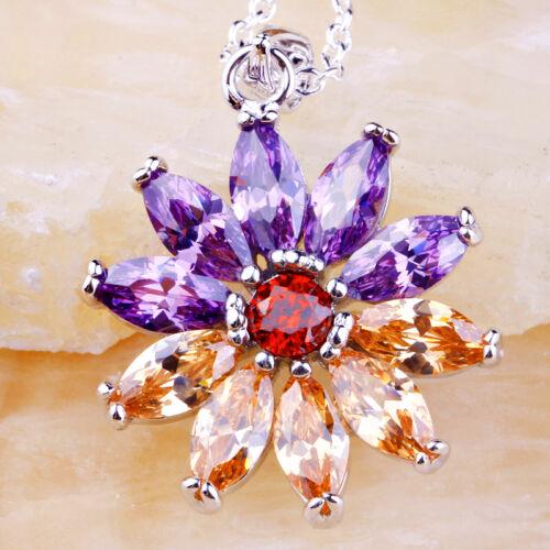 MORGANITE AMETHYSTE GRENAT pierres Fashion Jewelry AAA Argent sans chaîne Pendentif