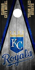Single Kansas City Royals Cornhole Wrap Skin Decal Mlb