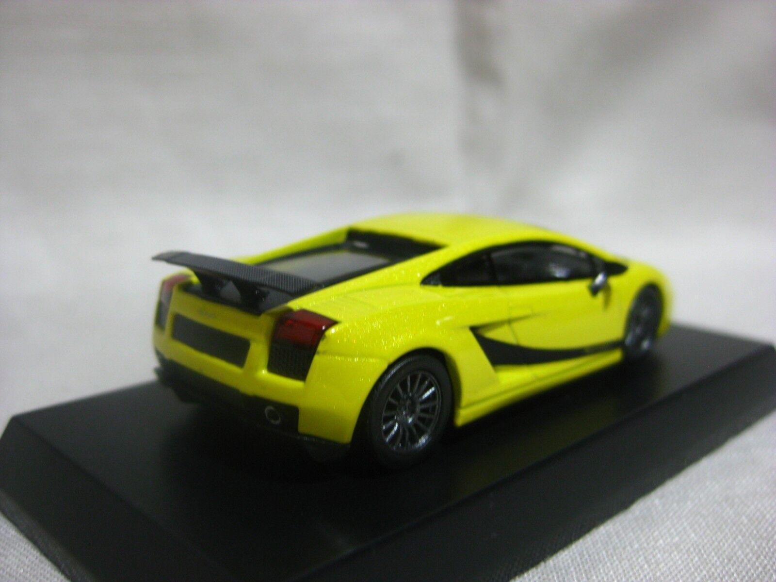 1 64 Kyosho Lamborghini Gallardo Superleggera Yellow Diecast Model Car Car Car ccbe72