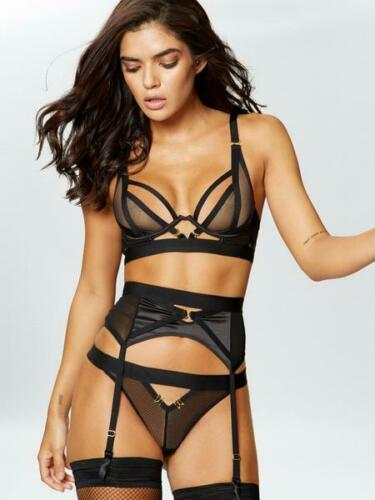 Sizes XS L Ann Summers Alina Suspender Belt Black