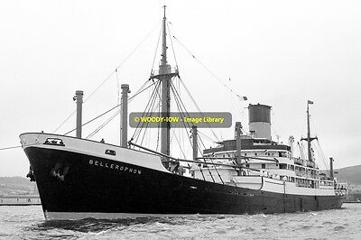 mc1778 - Blue Funnel Cargo Ship - Bellerophon , built 1950 - photo 6x4