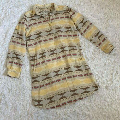 Ryan Michael Blanket Jacquard Dress Women's M Ivor