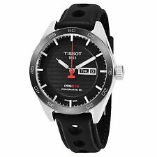 Tissot Men's PRS 516 Black Dial Leather Strap Powermatic 80 Watch T1004301605100