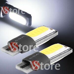 2-Lampade-LED-T10-No-Errore-COB-Canbus-BIANCO-TARGA-Posizione-Auto-5W-12V-VStore